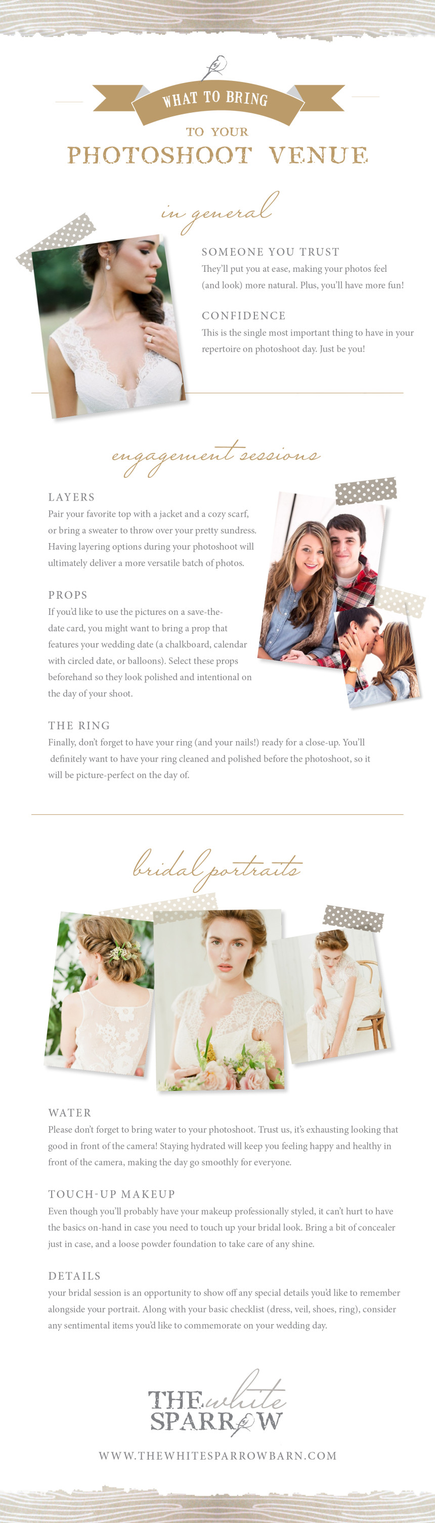What to Bring to Your Photoshoot Venue | The White Sparrow Barn Venue