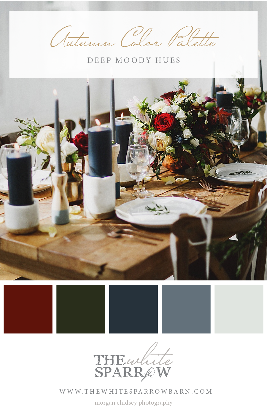 Wedding Venue Dallas | The White Sparrow Barn: Fall Color Palettes