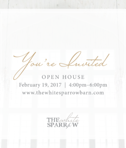 White Sparrow Barn Venue | Open House