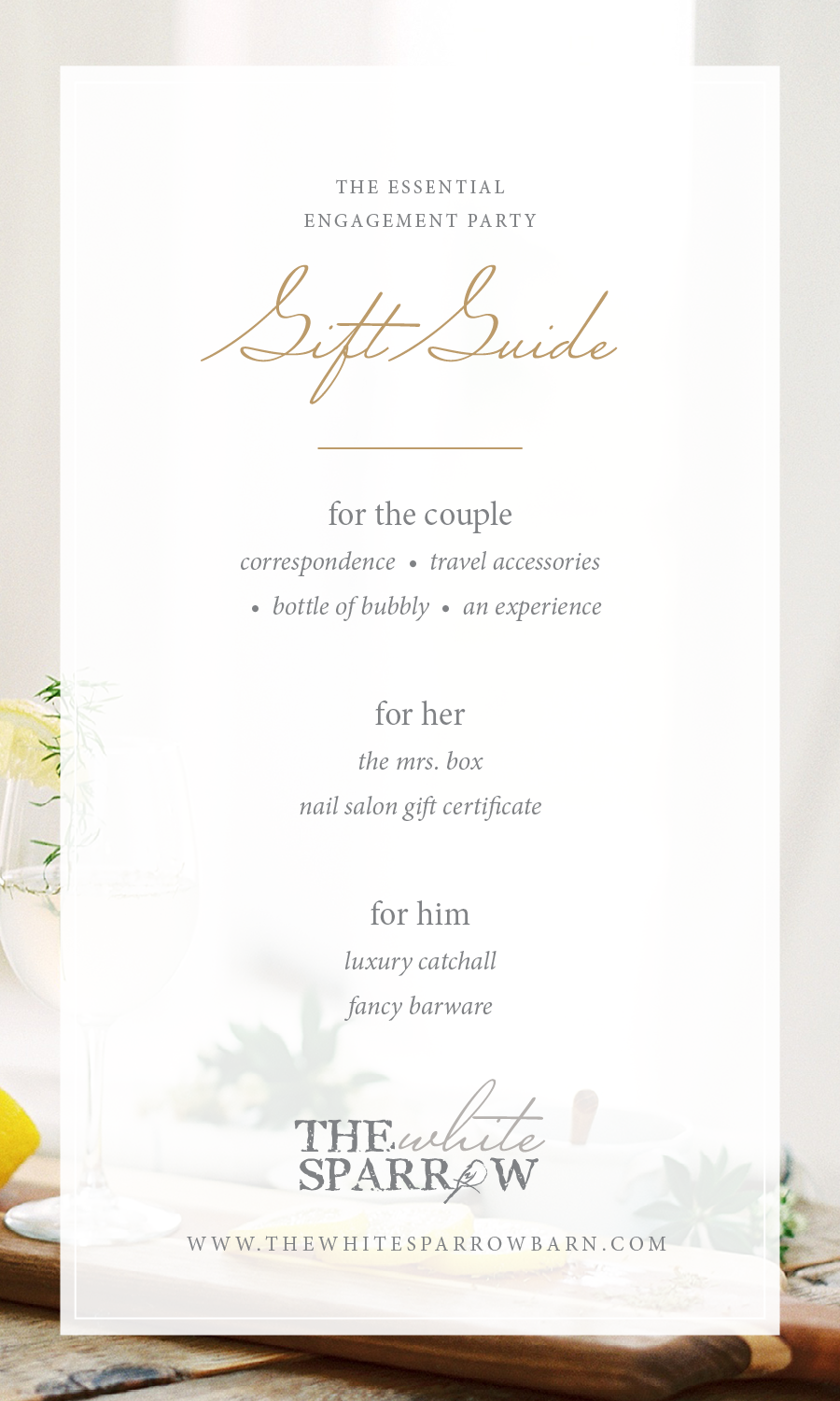 Barn Wedding Dallas | Engagement Party Gift Guide, The White Sparrow