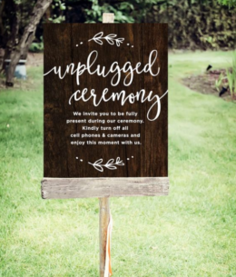 An Unplugged Ceremony